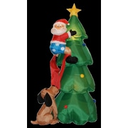 BZB Goods 6 ft. Christmas Tree w/ Santa and Dog Decoration