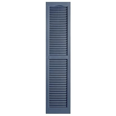 Alpha Shutters Exterior 14'' x 59'' Louvered Shutter (Set of 2); Blue