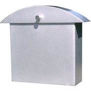 HouseArt Monet Wall Mounted Mailbox; Bright Silver