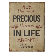 Cheungs Precious Things In Life Aren'T Things Wooden Wall Decor