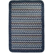Thorndike Mills Vineyard Haven South Beach/Blue Heather Border Indoor/Outdoor Area Rug; Square 10'
