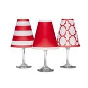 di Potter 4.5'' Nantucket Paper Wine Glass Empire Lamp Shade (Set of 6); Poppy Red