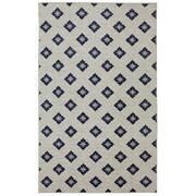Mohawk Home Loop Print Base Button Fleur Blue & Cream Area Rug; 8' x 10'