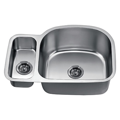 Dawn USA 30'' x 20'' Under Mount Double Bowl Kitchen Sink WYF078277793641