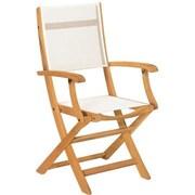 HiTeak Furniture Stella Folding Dining Arm Chair (Set of 2)