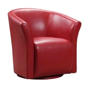 Picket House Furnishings Rocket Swivel Arm Chair; Red