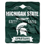 Northwest Co. Collegiate Michigan State Label Raschel Throw