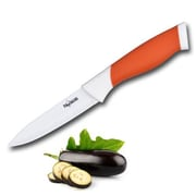 New England Cutlery 4'' Ceramic Utility Knife; Orange