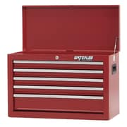 Waterloo Industries Shop Series 26'' Wide 5 Drawer Chest; Red