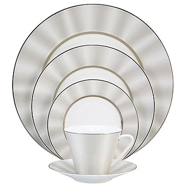 Nikko Ceramics Silk 5 Piece Place Setting; Platinum