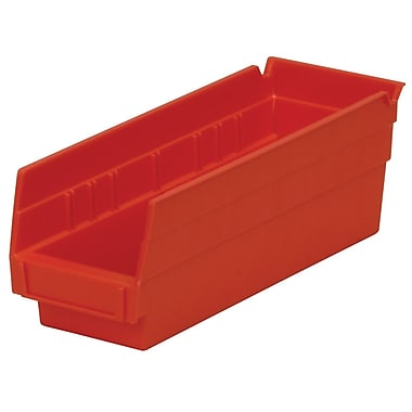 Akro-Mils Shelf Bin,11-5/8 x 4-1/8 x 4, Red
