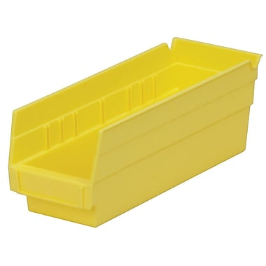 Akro-Mils Shelf Bin,11-5/8 x 4-1/8 x 4, Yellow