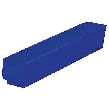 Akro-Mils Shelf Bin,W 4 1/8 ,H 4, Blue