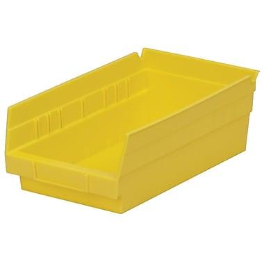 Akro-Mils Shelf Bin,11-5/8 x 6-5/8 x 4, Yellow