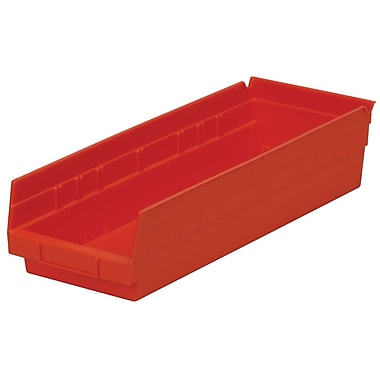 Akro-Mils Shelf Bin,17-7/8 x 6-5/8 x 4, Red