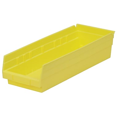 Akro-Mils Shelf Bin,17-7/8 x 6-5/8 x 4, Yellow