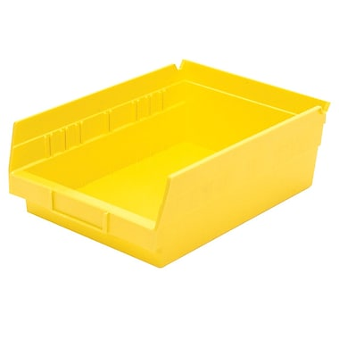 Akro-Mils Shelf Bin,11-5/8 x 8-3/8 x 4, Yellow
