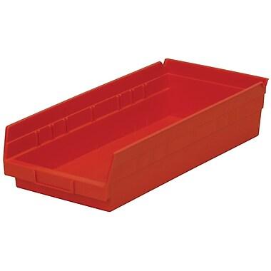 Akro-Mils Shelf Bin,17-7/8 x 8-3/8 x 4, Red
