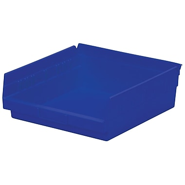 Akro-Mils Shelf Bin,11-5/8 x 11-1/8 x 4, Blue