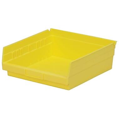 Akro-Mils Shelf Bin,11-5/8 x 11-1/8 x 4, Yellow