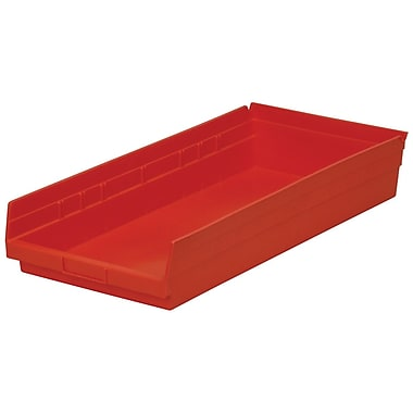 Akro-Mils Shelf Bin,23-5/8 x 11-1/8 x 4, Red