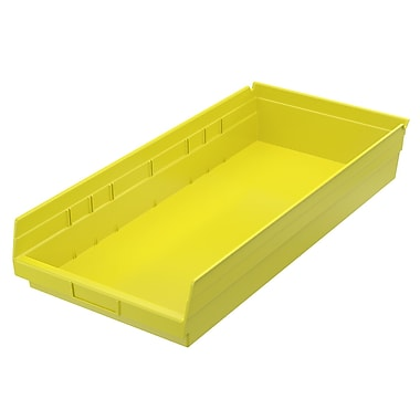 Akro-Mils Shelf Bin,23-5/8 x 11-1/8 x 4, Yellow