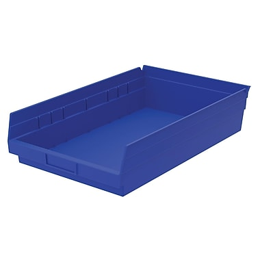 Akro-Mils Shelf Bin,17-7/8 x 11-1/8 x 4, Blue