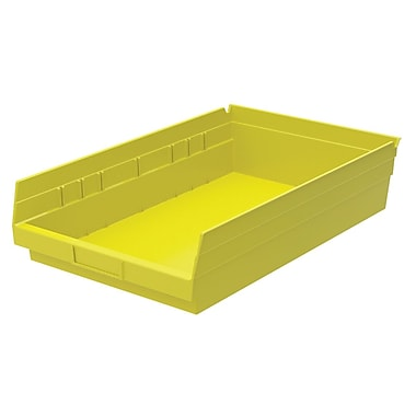Akro-Mils Shelf Bin,17-7/8 x 11-1/8 x 4, Yellow