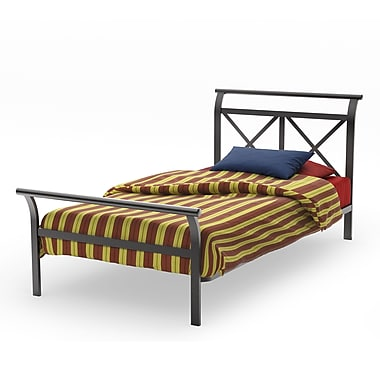 Amisco Harry Twin Size Metal Headboard & Footboard 39