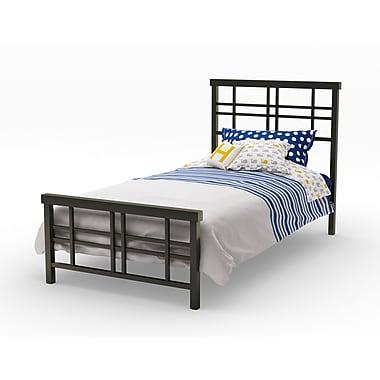 Amisco – Tête et pied de lit simple Heritage de 39 po en métal