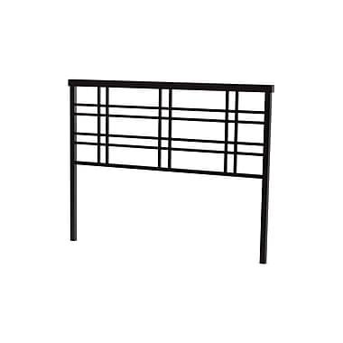 Amisco – Tête de grand lit Heritage de 60 po en métal, cobrizo/brun foncé texturé