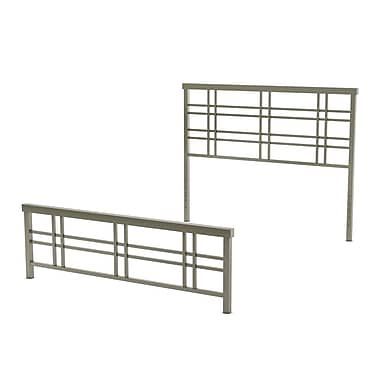 Amisco Heritage Queen Size Metal Headboard & Footboard 60