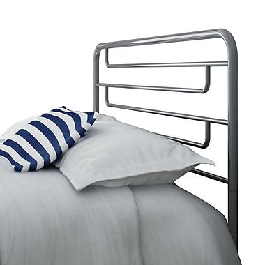 Amisco – Tête de lit pour grand lit Pier de 60 po en métal, magnétite/gris lustré