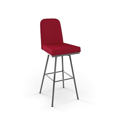 Amisco Spoon Swivel Metal Barstool 30