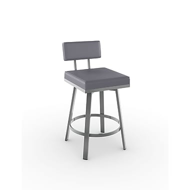 Amisco Staten Swivel Metal Counter Stool 26