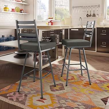 Amisco (41326-26WE/1B24BIF4) Stage Swivel Metal Counter Stool