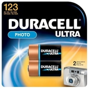Duracell DL123AB2 3.0-Volt Lithium Battery, 2/Pack