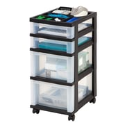 Staples® 4-Drawer Rolling Cart with Plastic Organizer Top (116863)