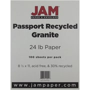 "JAM Paper® 24 lb. 8 1/2"" x 11"" Recycled Paper, Granite, 100 Sheets/Pack"