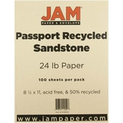"JAM Paper® 24 lb. 8 1/2"" x 11"" Recycled Paper, Sandstone, 100 Sheets/Pack"