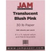 "JAM Paper® 30 lb. 8 1/2"" x 11"" Vellum Translucent Paper, Blush Pink, 100 Sheets/Pack"