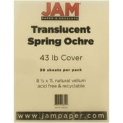 "JAM Paper® 8 1/2"" x 11"" Paper Chartham Color Translucent Cover, Spring Ochre, 250/Pack"