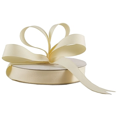 JAM Paper® Grosgrain Ribbon, 5/8 inch wide x 25 Yards, Ivory, Sold Individually (7896495)