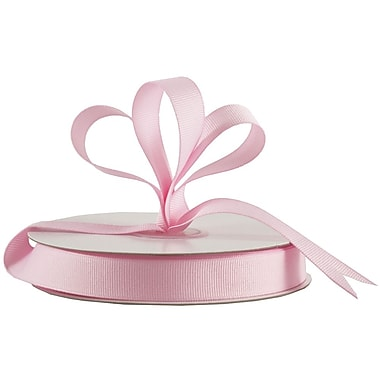 JAM Paper® Grosgrain Ribbon, 5/8 inch wide x 25 Yards, Pink, Sold Individually (7896496)