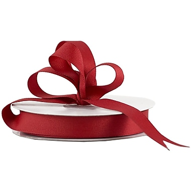 JAM Paper® Grosgrain Ribbon, 5/8 inch wide x 25 Yards, Red, Sold Individually (7896497)