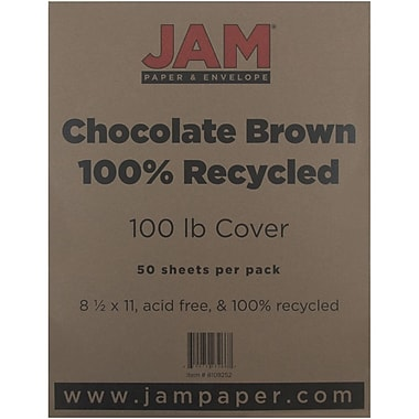 JAM Paper® 100 lb. 8 1/2
