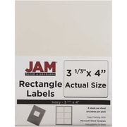 "Jam Paper 4"" x 3.33"" Inkjet/Laser Mailing Address Labels, Ivory, 120/Pack (17966069)"