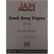 "JAM Paper® 28 lb. 8 1/2"" x 11"" Paper, Gray/Grey, 50 Sheets/Pack"