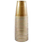 JAM Paper® Plastic Cups 12 Oz. Gold, 20/Pack