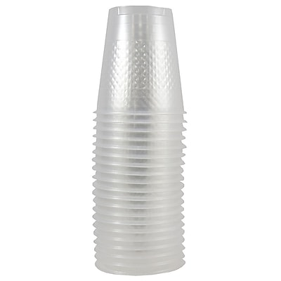 JAM Paper Plastic Cups, 12 oz, Clear, 20/pack (255529346) 2103283